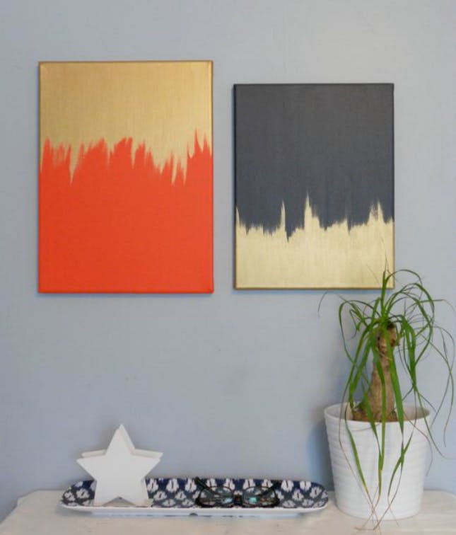 Best ideas about DIY Painting Wall . Save or Pin 50 Creative Ways to DIY Your Own Wall Art Now.