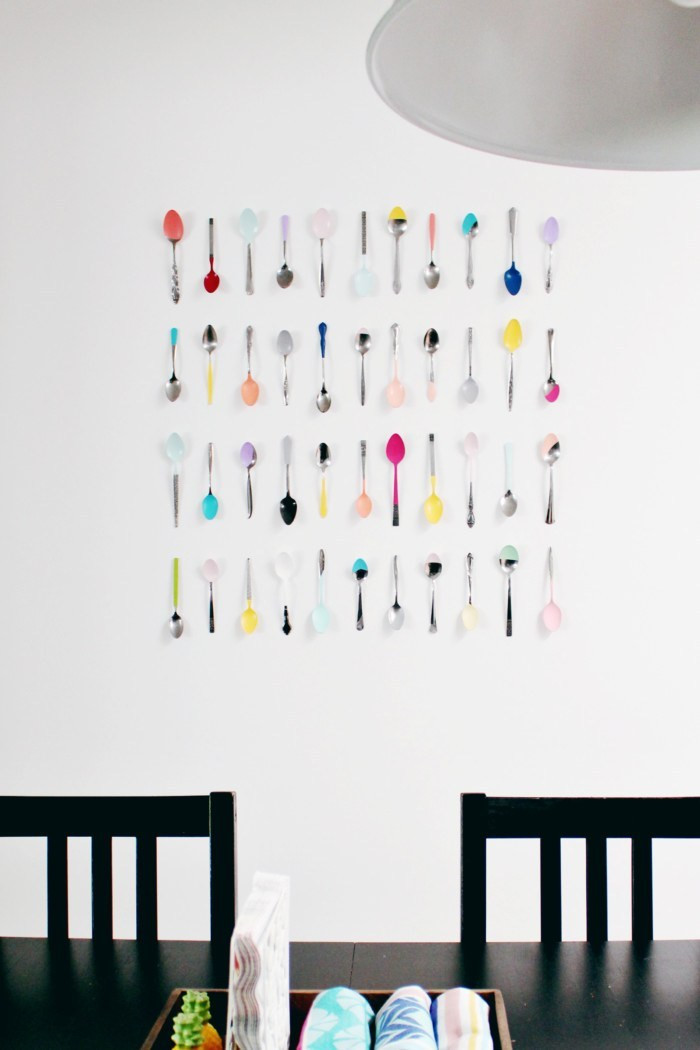 Best ideas about DIY Painting Wall . Save or Pin Wall Art DIY Dip Painted Spoons for Your Kitchen Now.