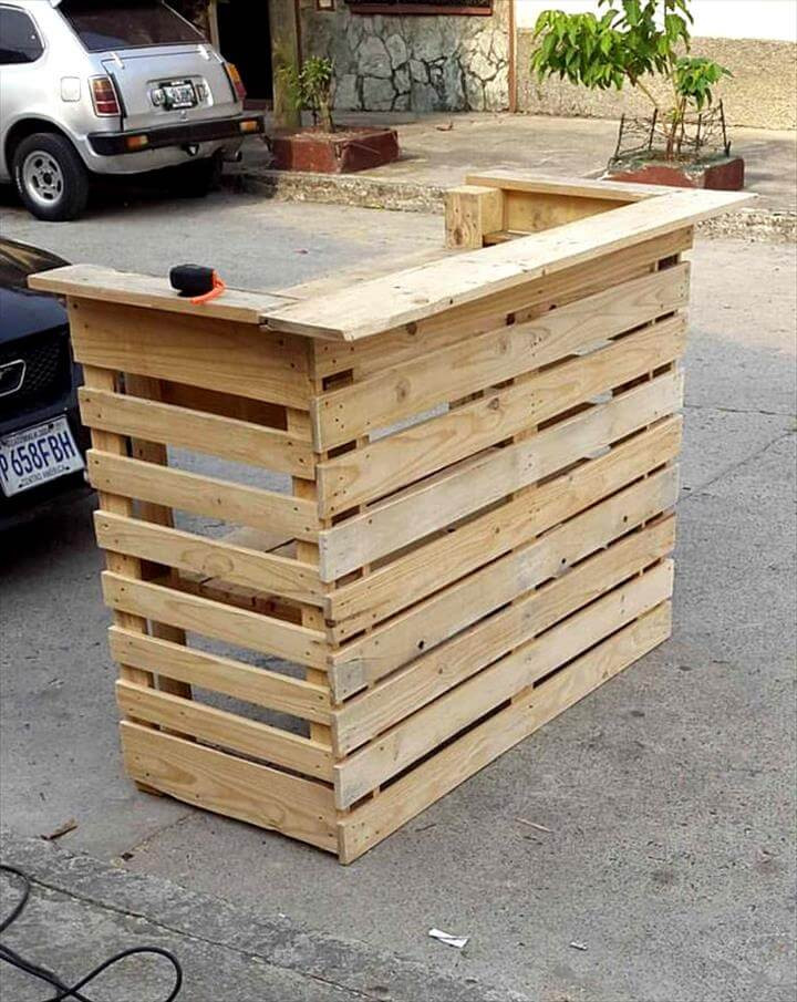 Best ideas about DIY Pallet Bar . Save or Pin Easy Projects You can do with Free Pallets Now.