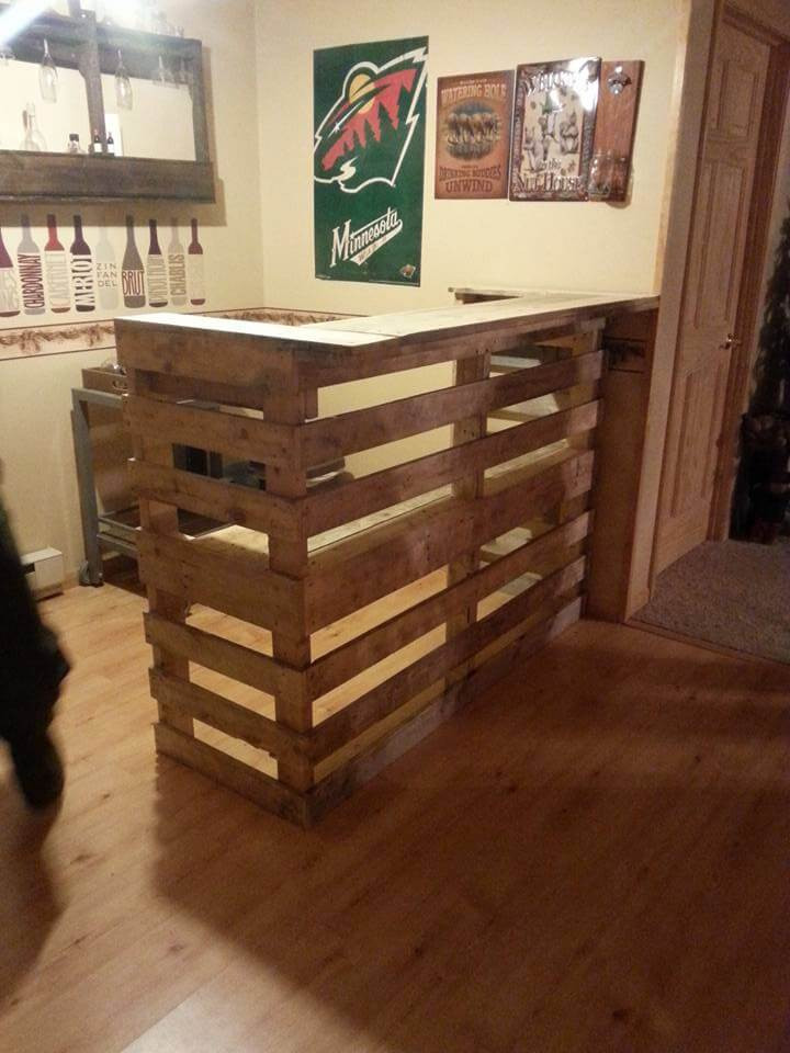 Best ideas about DIY Pallet Bar . Save or Pin DIY Pallet Bar Now.