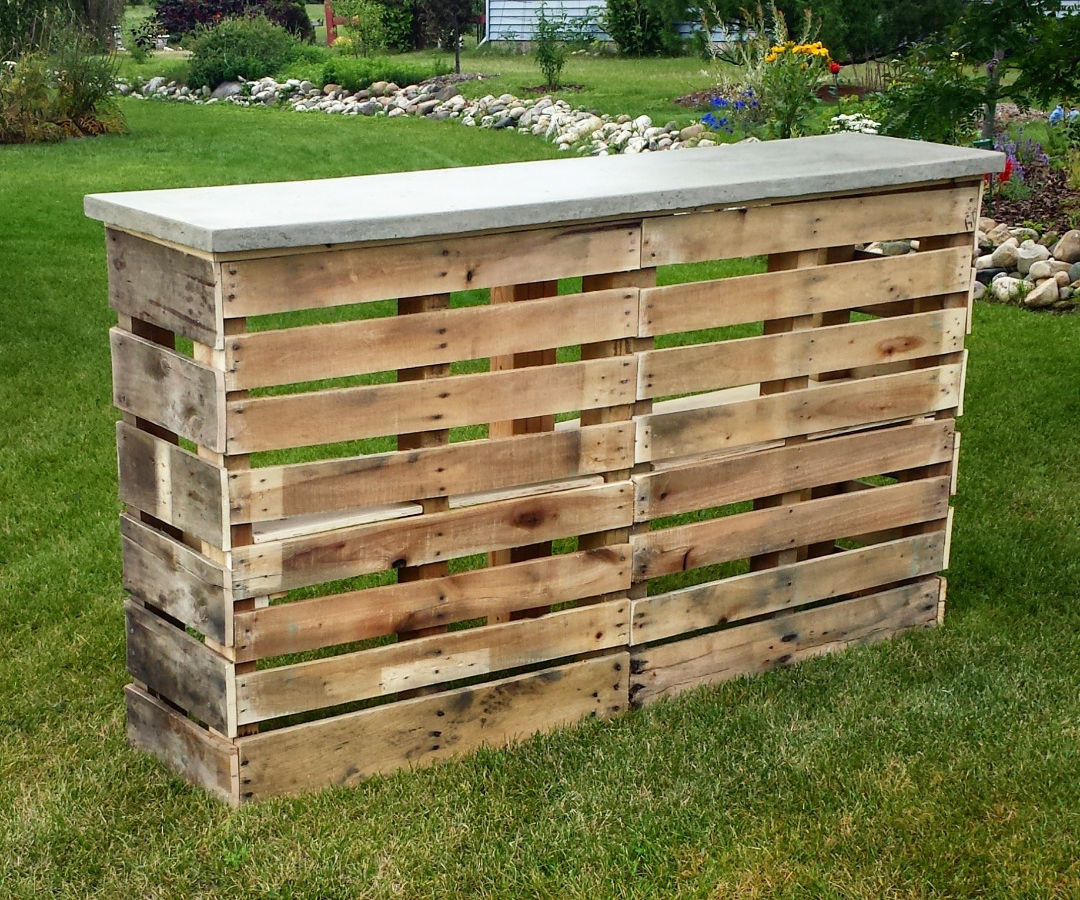 Best ideas about DIY Pallet Bar . Save or Pin Pallet Patio Bar With Concrete Top 6 Steps with Now.