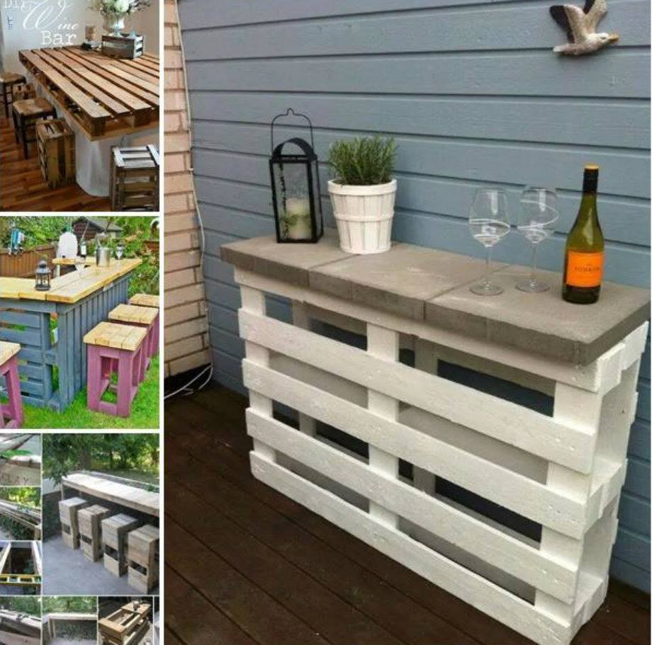 Best ideas about DIY Pallet Bar . Save or Pin DIY Pallet Patio Wine Bar Now.