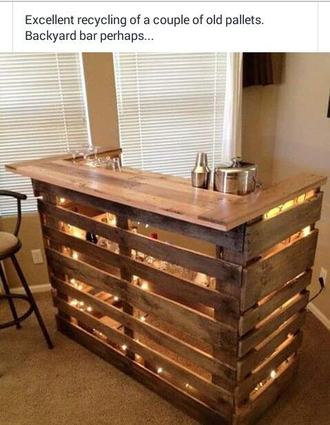 Best ideas about DIY Pallet Bar . Save or Pin Diy backyard bar made out of pallets is would be Now.