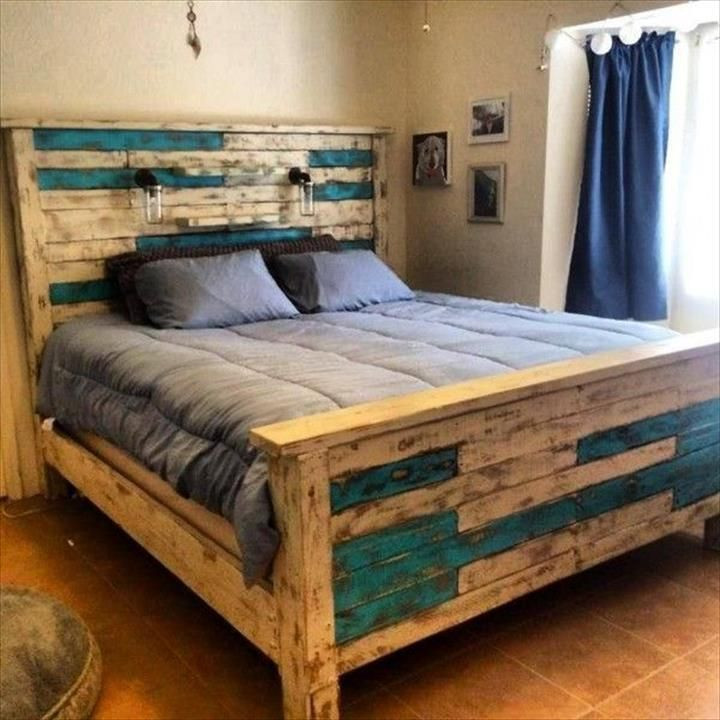 Best ideas about DIY Pallet Bed Frames . Save or Pin rustic pallet queen size bed frame Now.