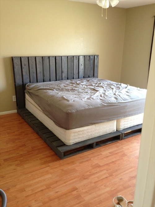 Best ideas about DIY Pallet Bed Frames . Save or Pin 34 DIY Ideas Best Use of Cheap Pallet Bed Frame Wood Now.