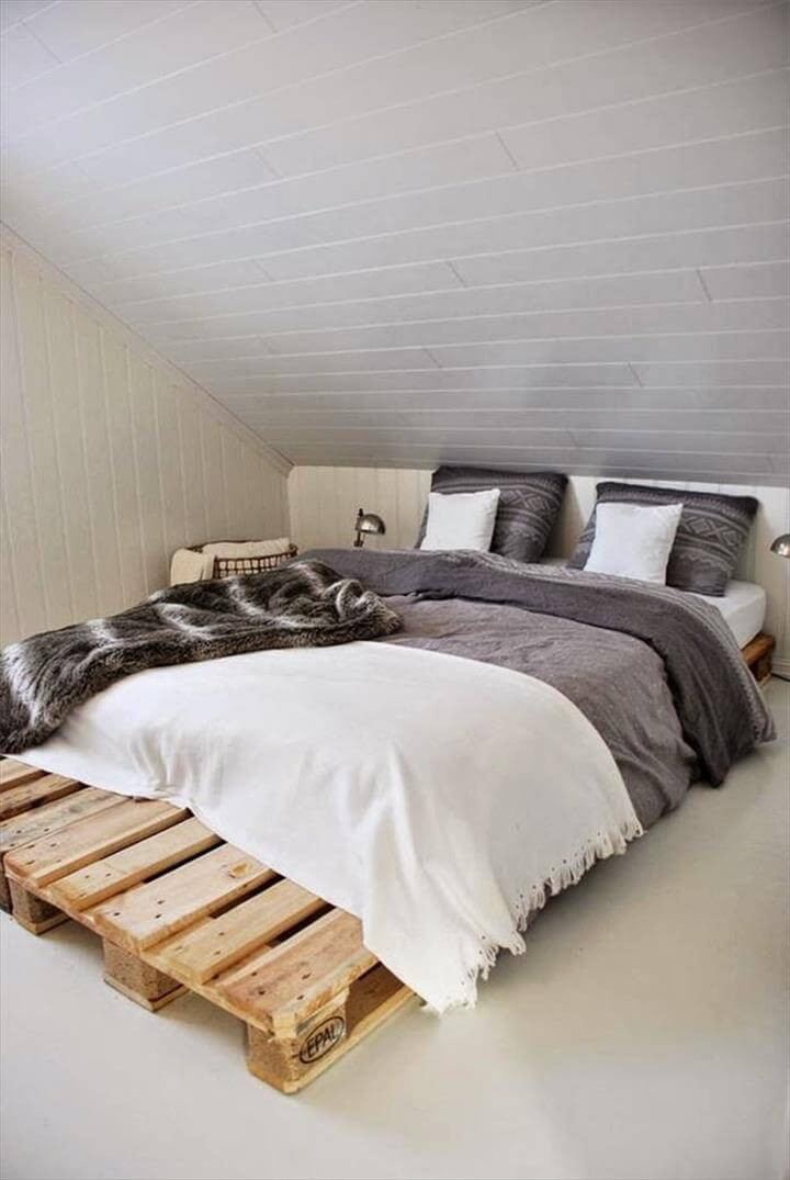 Best ideas about DIY Pallet Bed Frames . Save or Pin 42 DIY Recycled Pallet Bed Frame Designs Now.