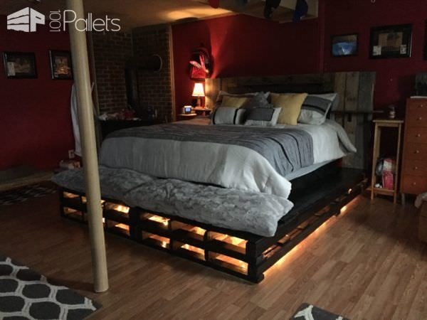 Best ideas about DIY Pallet Bed Frames . Save or Pin King size Pallet Bed Easy Diy Now.