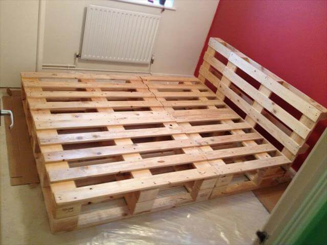 Best ideas about DIY Pallet Bed Frames . Save or Pin Beautiful DIY Pallet Bed Now.