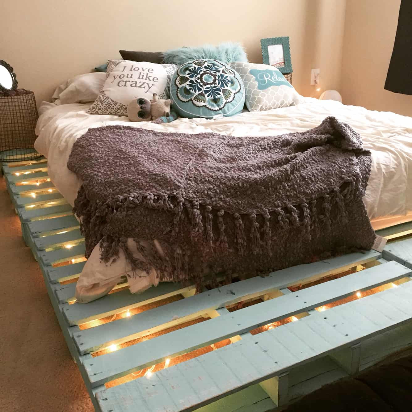 Best ideas about DIY Pallet Bed Frames . Save or Pin Top 62 Recycled Pallet Bed Frames DIY Pallet Collection Now.