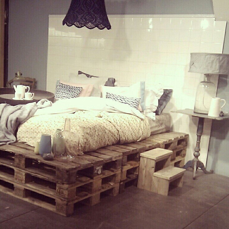 Best ideas about DIY Pallet Bed Frames . Save or Pin 20 brilliant wooden pallet bed frame ideas for your house Now.
