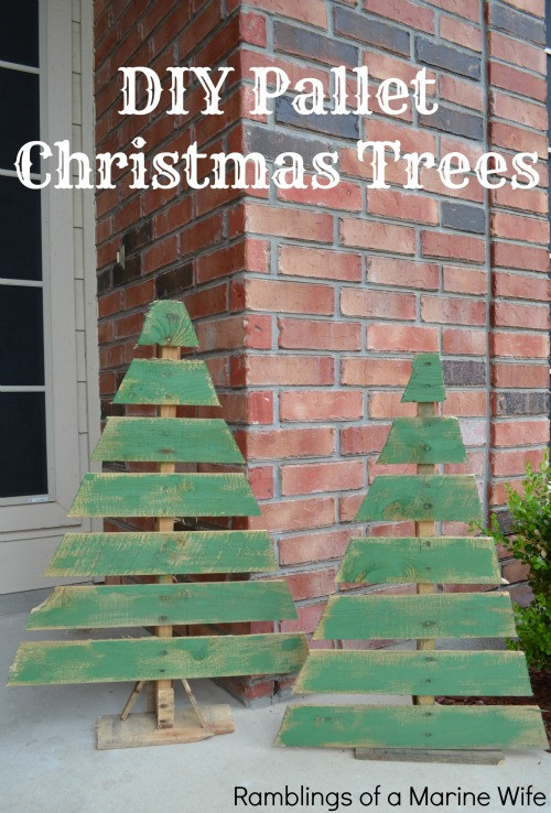 Best ideas about DIY Pallet Christmas Trees . Save or Pin DIY Pallet Christmas Trees Now.