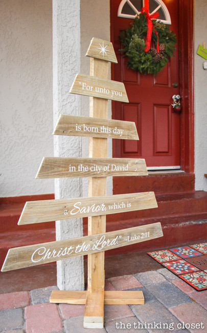 Best ideas about DIY Pallet Christmas Trees . Save or Pin DIY Rustic Pallet Christmas Tree & Free Silhouette Cut File Now.