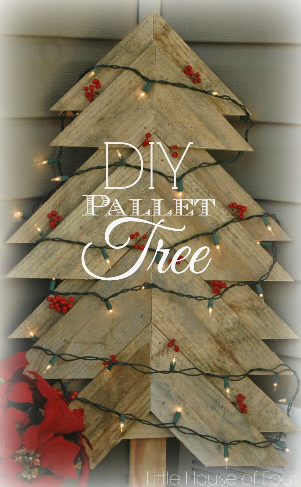 Best ideas about DIY Pallet Christmas Trees . Save or Pin Rustic Pallet Christmas Tree Now.