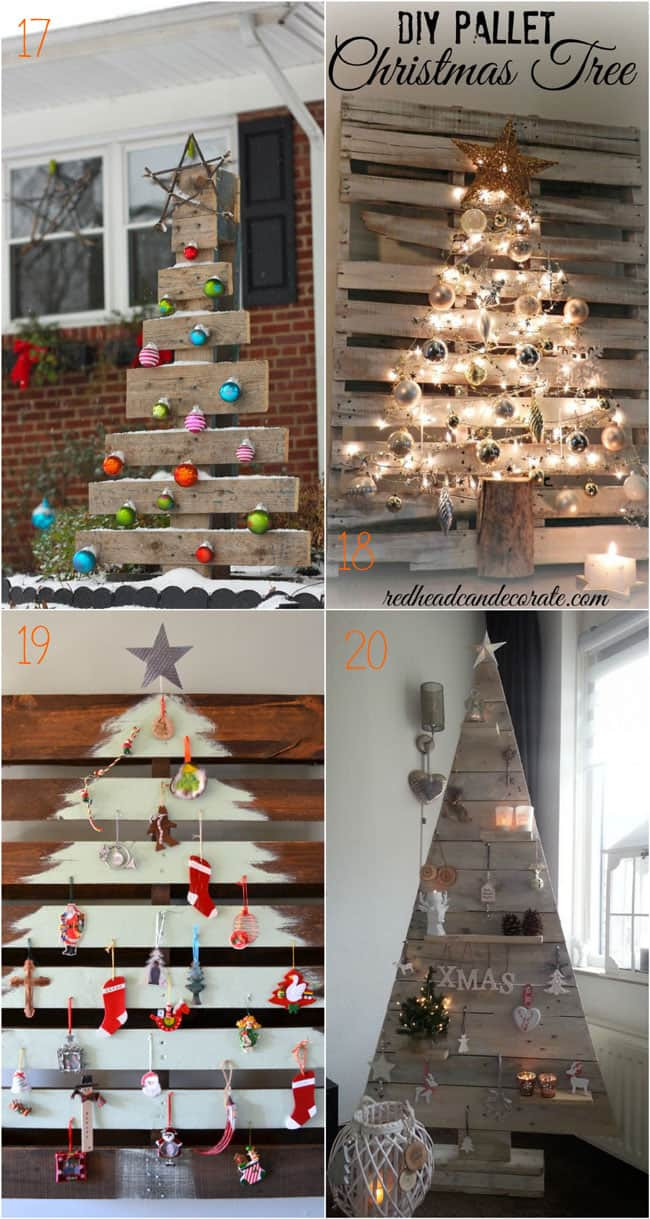 Best ideas about DIY Pallet Christmas Trees . Save or Pin 38 Amazing Christmas Tree Ideas A Piece of Rainbow Now.