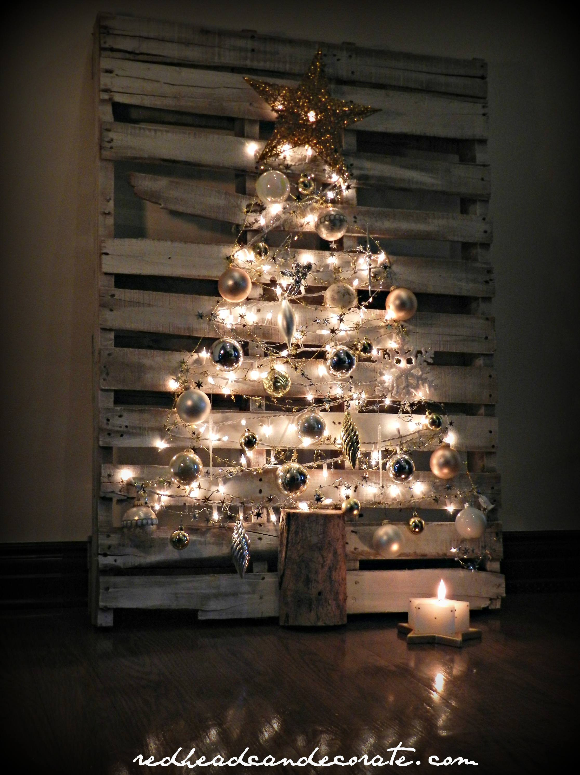 Best ideas about DIY Pallet Christmas Trees . Save or Pin Pallet Christmas Tree Redhead Can Decorate Now.