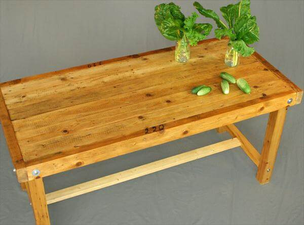 Best ideas about DIY Pallet Dining Table . Save or Pin DIY Reclaimed Wooden Pallet Dining Table Now.