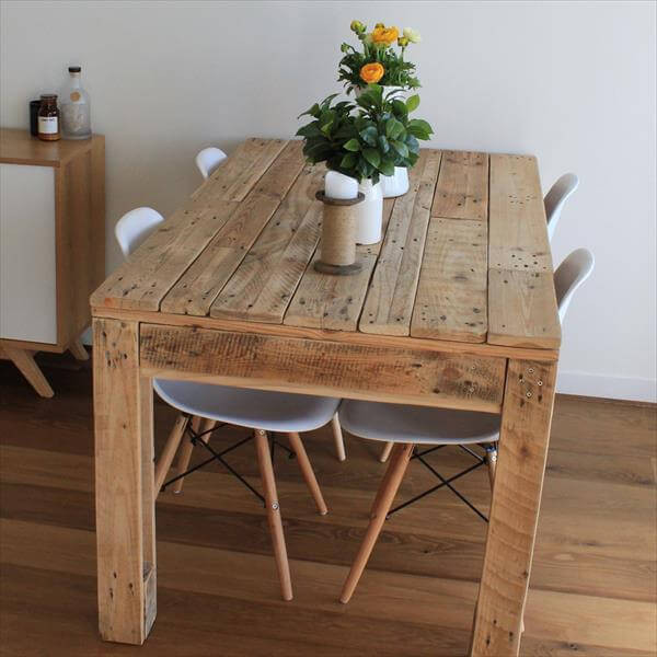 Best ideas about DIY Pallet Dining Table . Save or Pin Rustic Style Pallet Dining Table Now.