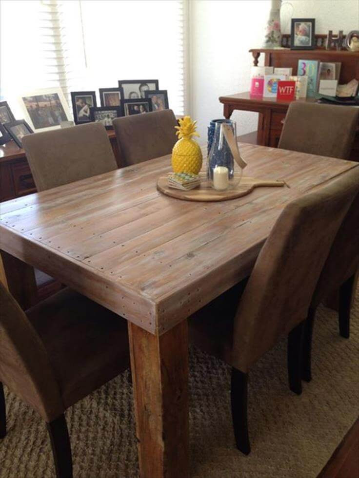 Best ideas about DIY Pallet Dining Table . Save or Pin DIY Custom Built Pallet Dining Table Ideas Now.