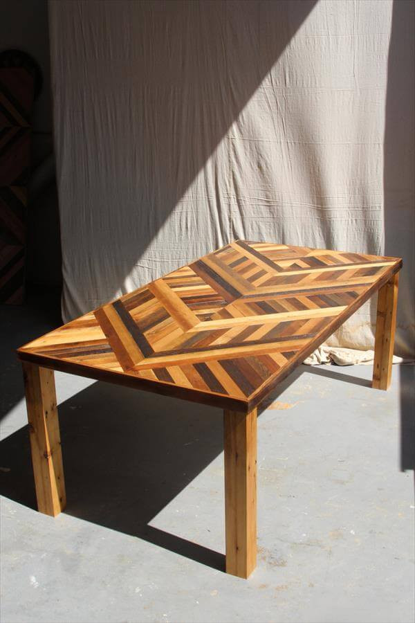 Best ideas about DIY Pallet Dining Table . Save or Pin DIY Pallet Chevron Dining Table Now.