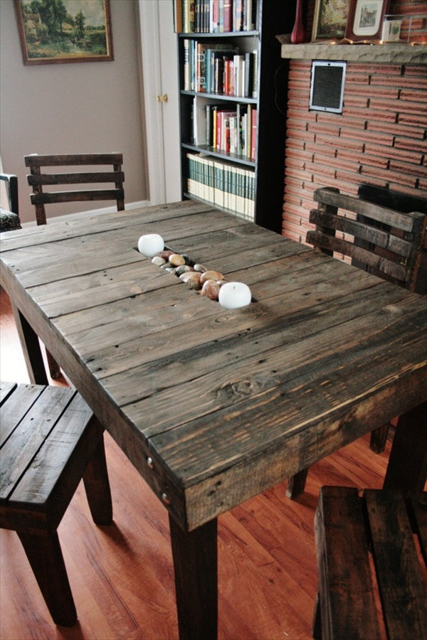 Best ideas about DIY Pallet Dining Table . Save or Pin 17 DIY Plans Decorating Your Food Area on Pallet Dining Now.