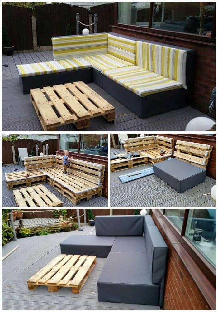 Best ideas about DIY Pallet Furniture Ideas . Save or Pin DIY Pallet Upholstered Sectional Sofa Tutorial Easy Now.