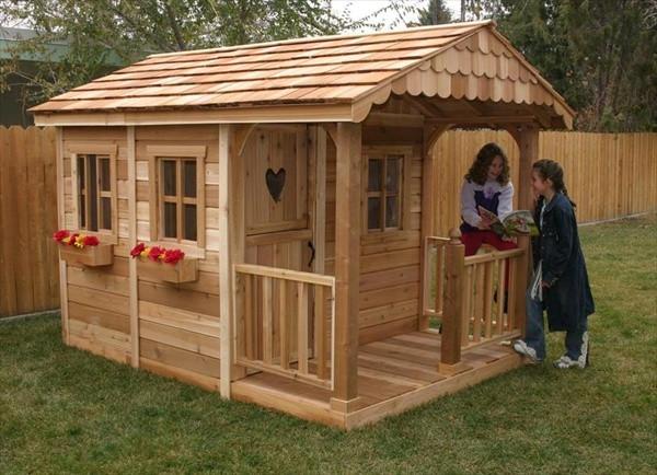 Best ideas about DIY Pallet Playhouse Plans . Save or Pin DIY Designs Kids Pallet Playhouse Plans Now.