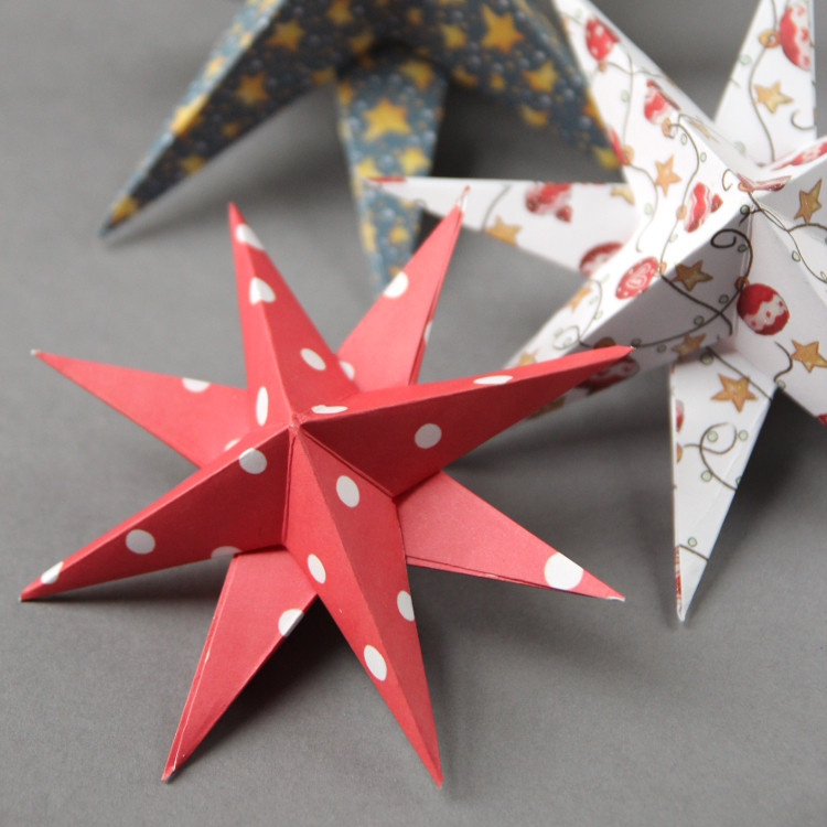 Best ideas about DIY Paper Christmas Decorations . Save or Pin DIY 3D PAPER STAR CHRISTMAS DECORATIONS Now.