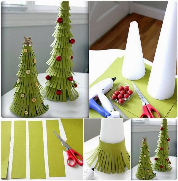 Best ideas about DIY Paper Christmas Decorations . Save or Pin DIY Paper Christmas Trees GOODIY Now.