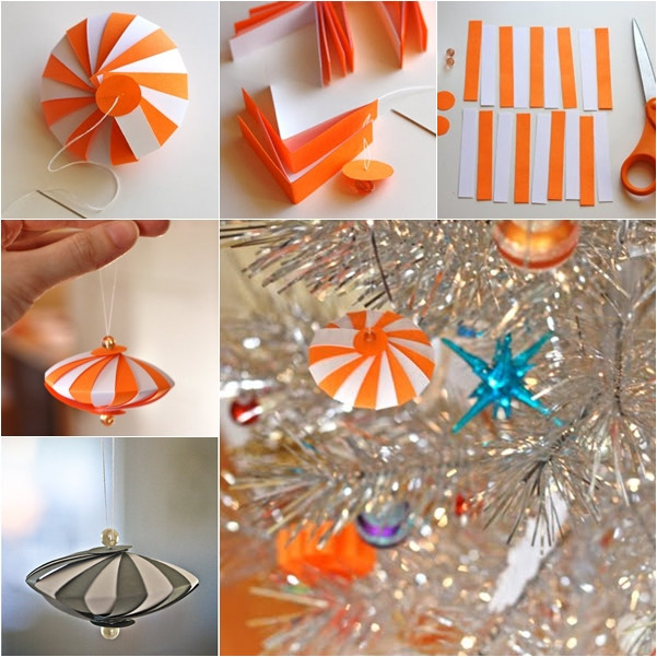 Best ideas about DIY Paper Christmas Decorations . Save or Pin Wonderful DIY Easy Striped Paper Ornament Now.