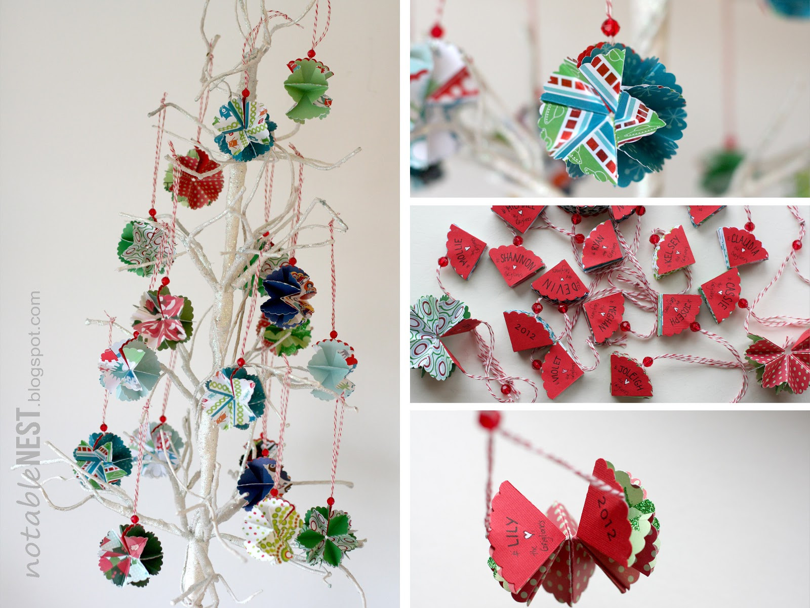 Best ideas about DIY Paper Christmas Decorations . Save or Pin Notable Nest Foldable Christmas Ornaments Now.