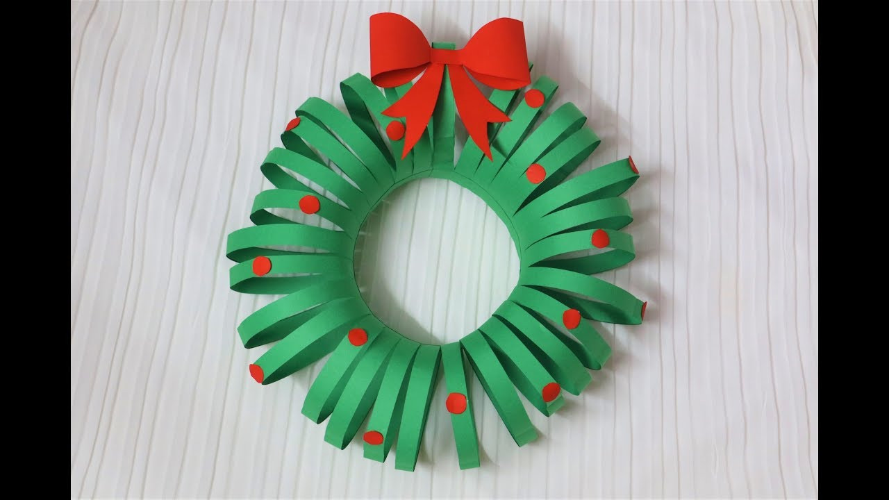 Best ideas about DIY Paper Christmas Decorations . Save or Pin Easiest DIY Christmas Wreath Paper Crafts Now.
