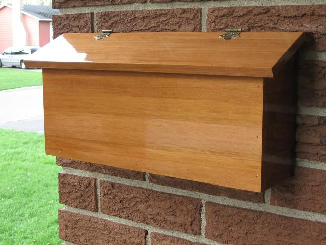 Best ideas about DIY Parcel Drop Box Plans . Save or Pin wood mailbox ideas Google Search Now.