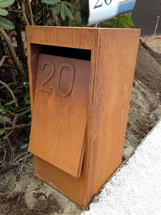 Best ideas about DIY Parcel Drop Box Plans . Save or Pin Cortenstaal brievenbus Now.