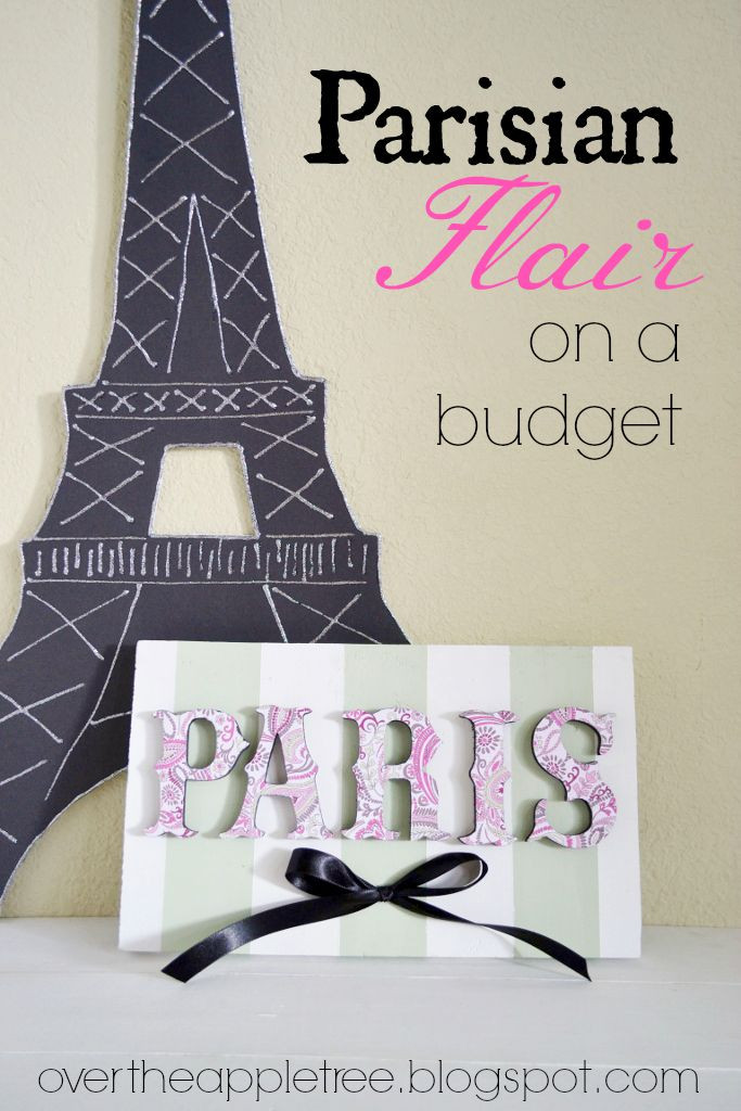 Best ideas about DIY Paris Room Decor . Save or Pin Over The Apple Tree Parisian Flair A Bud Now.