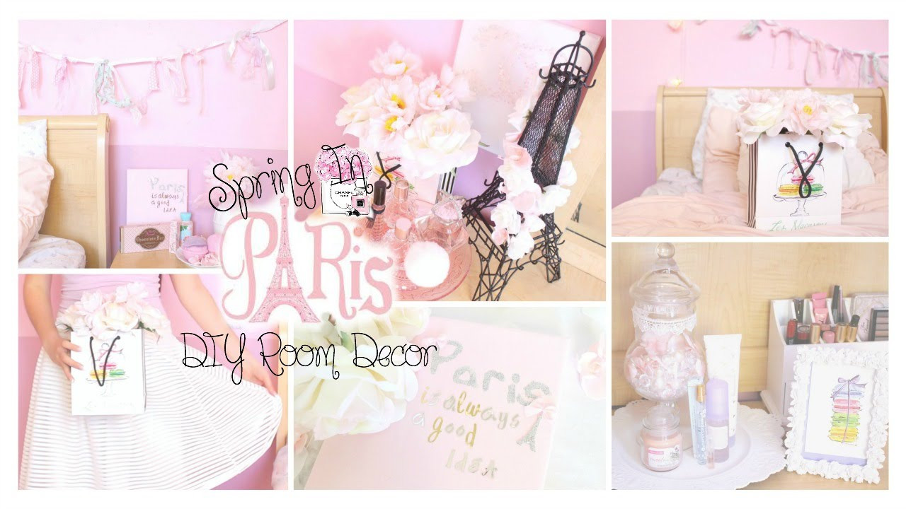Best ideas about DIY Paris Room Decor . Save or Pin Spring in Paris DIY Room Decor Girly & French Part 2 Now.