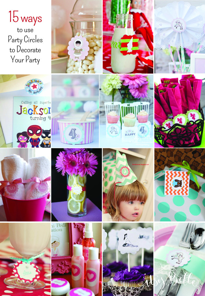 Best ideas about DIY Party Decorations . Save or Pin DIY Party on a Bud 15 Ideas for Using Party Circles Now.