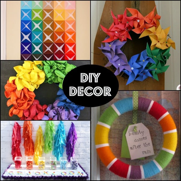 Best ideas about DIY Party Decorations . Save or Pin Rainbow Birthday Party Ideas for a 1st Birthday giveaway Now.