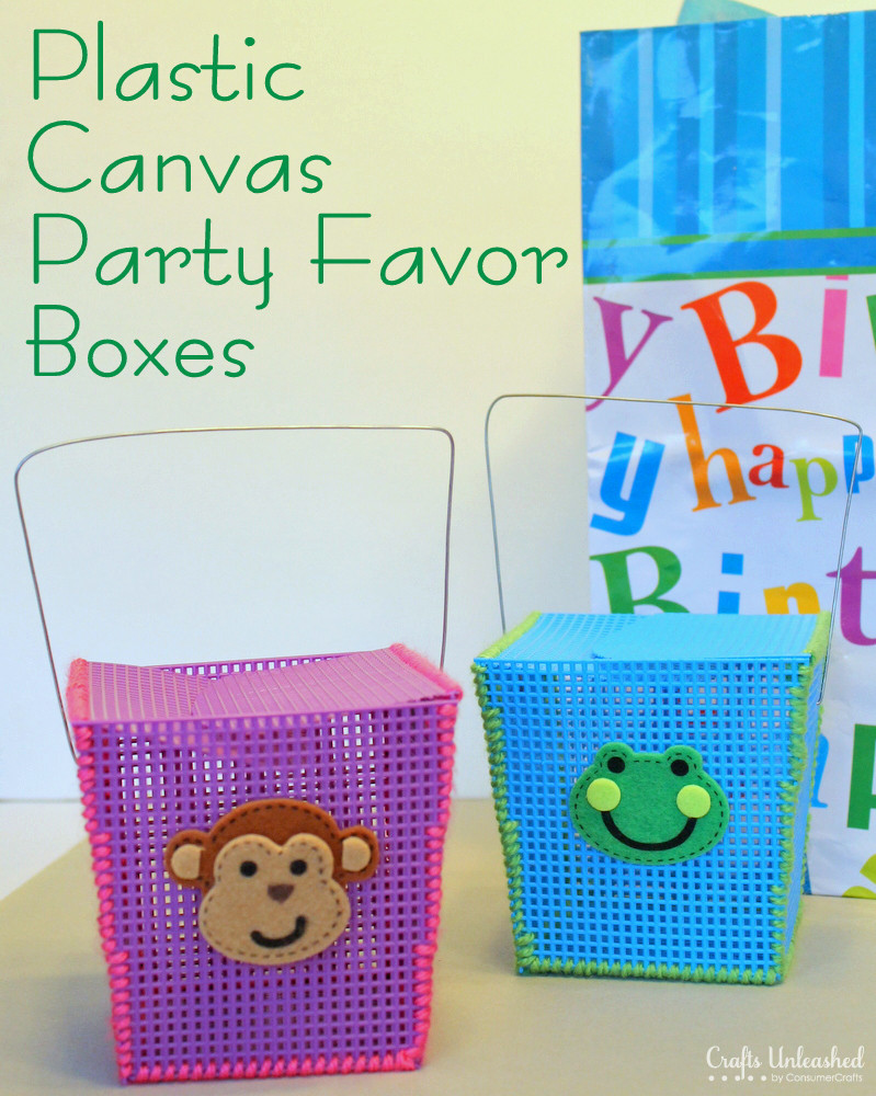 Best ideas about DIY Party Favors . Save or Pin DIY Party Favor Boxes Made With Plastic Canvas Now.