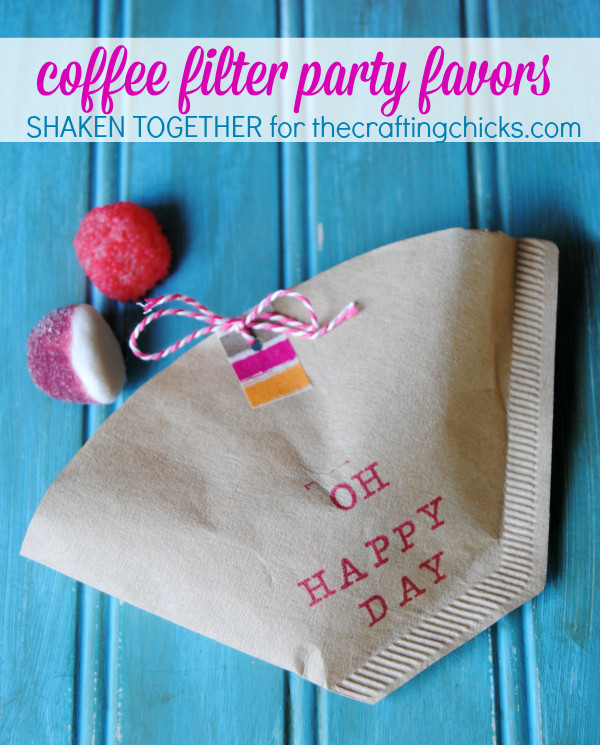 Best ideas about DIY Party Favors For Adults . Save or Pin Quick & Easy Coffee Filter Party Favors party Now.