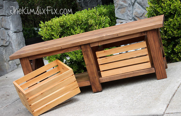 Best ideas about DIY Patio Benches . Save or Pin DIY Outdoor Storage Benches Now.