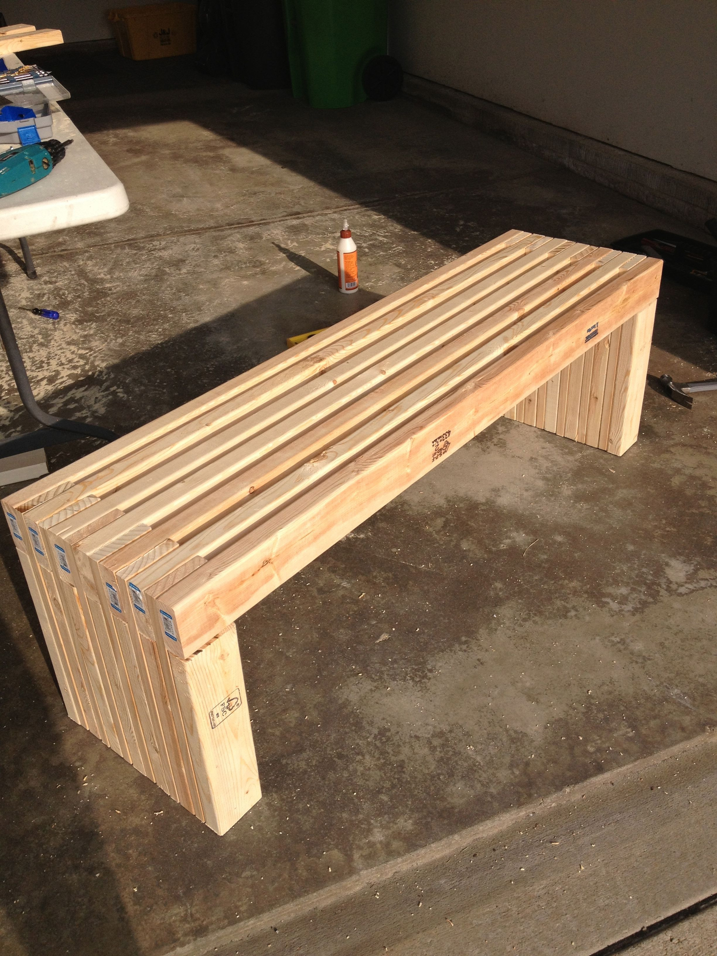 Best ideas about DIY Patio Benches . Save or Pin Pin by Alice Booth on backyard Now.
