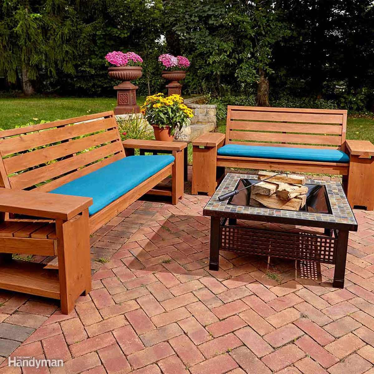Best ideas about DIY Patio Benches . Save or Pin 15 Awesome Plans for DIY Patio Furniture Now.