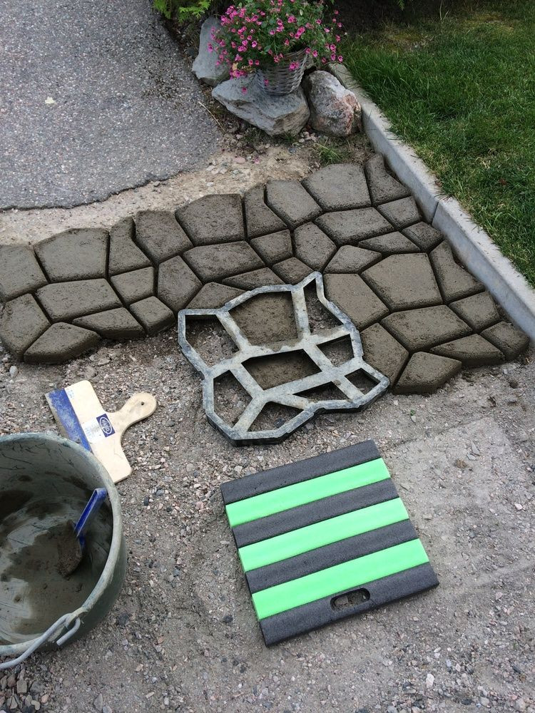 Best ideas about DIY Paver Driveway . Save or Pin DIY Driveway Paving Pavement Mold Patio Concrete Stepping Now.