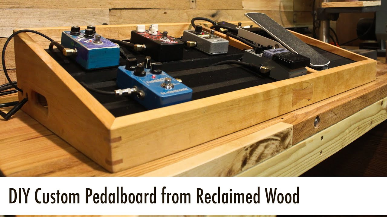 Best ideas about DIY Pedal Board . Save or Pin DIY Custom Pedalboard from Reclaimed Wood Now.