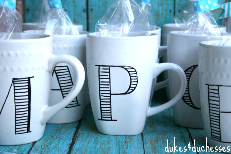 Best ideas about DIY Personalized Mugs . Save or Pin Anthropologie Inspired DIY Monogrammed Mugs Dukes and Now.