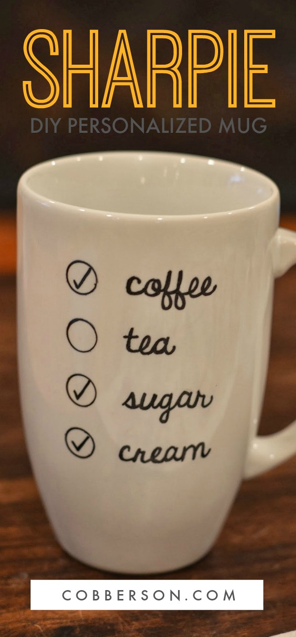 Best ideas about DIY Personalized Mugs . Save or Pin DIY Personalized Sharpie mug Now.