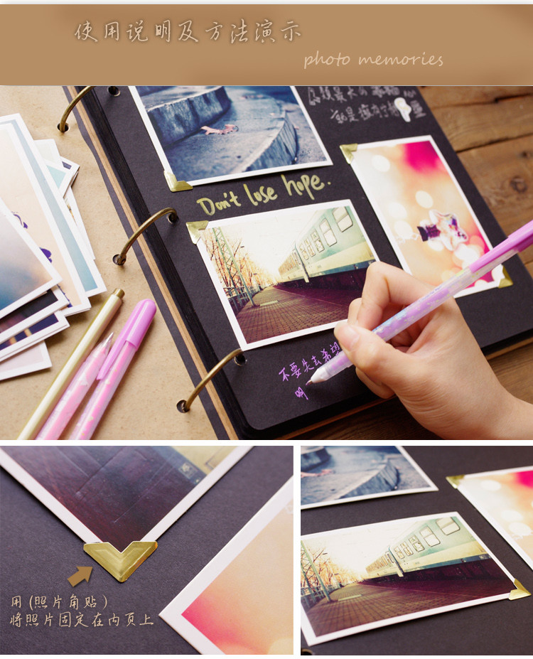 Best ideas about DIY Photo Album . Save or Pin Quality Leather Handmade Diy Gift Album Fashion Now.