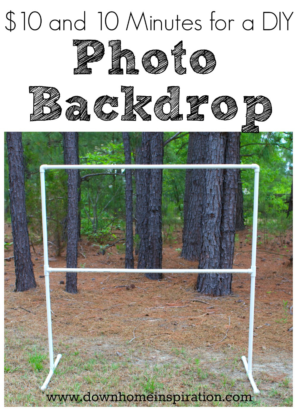 Best ideas about DIY Photo Booth Stand . Save or Pin $10 and 10 Minutes for a DIY Backdrop Down Home Now.