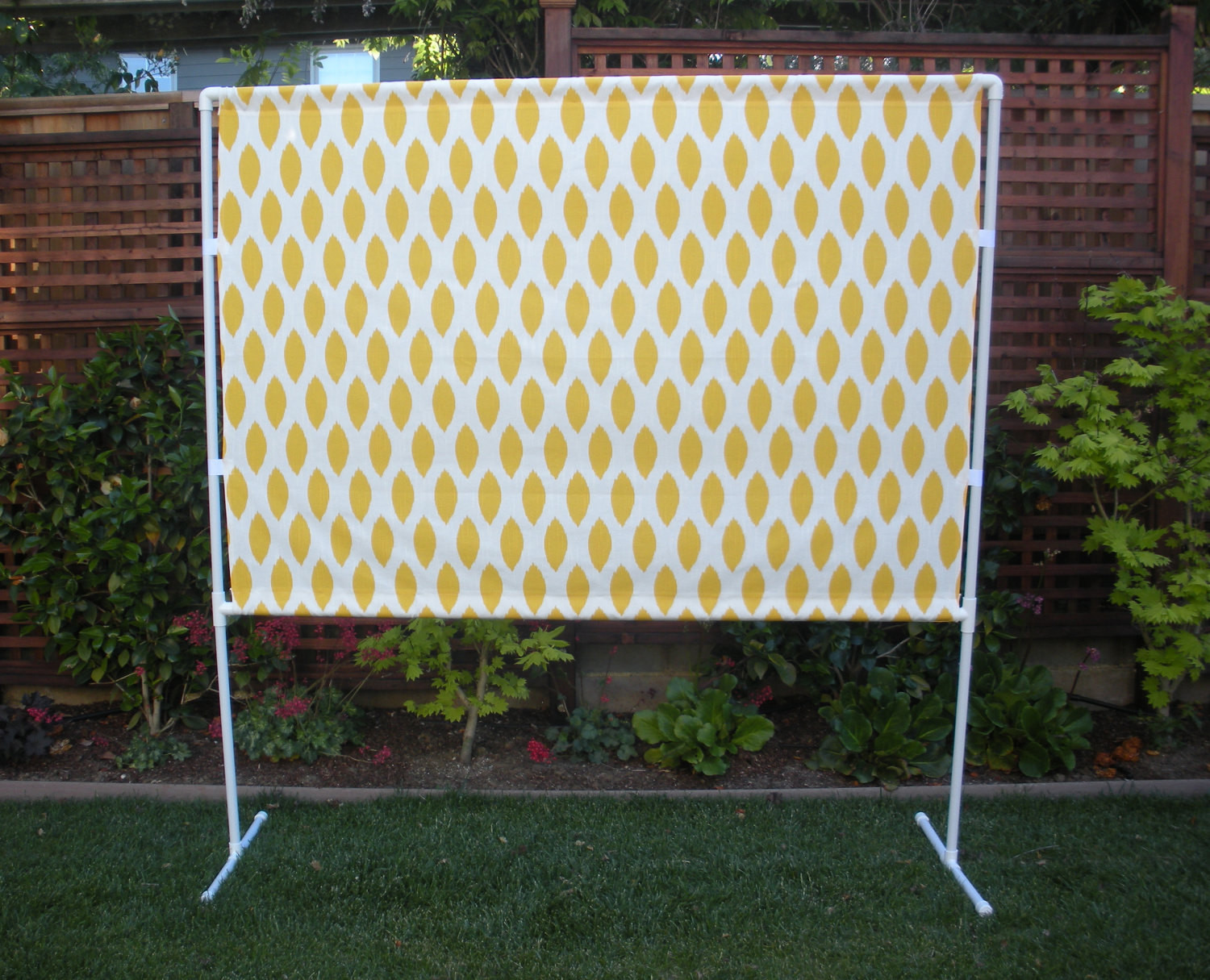 Best ideas about DIY Photo Booth Stand . Save or Pin Yellow and White Booth Backdrop Now.