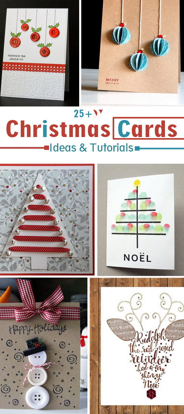 Best ideas about DIY Photo Christmas Cards . Save or Pin 25 DIY Christmas Cards Ideas & Tutorials Now.